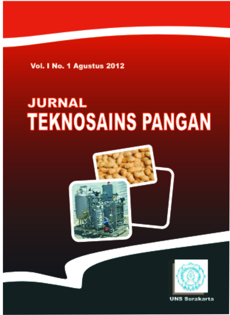 RELEASE JURNAL TEKNOSAINS PANGAN VOL 2 NO 2 APRIL 2013