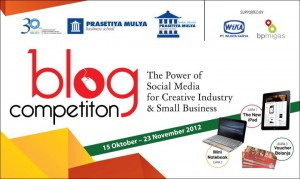 "BLOG COMPETITION ""SOCIAL MEDIA NATION : THE POWER OF SOCIAL MEDIA FOR CREATIVE INDUSTRY & SMALL BUSINESS"""